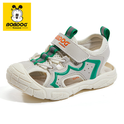 BOBDOG HOUSE巴布豆童鞋兒童涼鞋夏季男童女童寶寶1-3歲沙灘鞋B8661