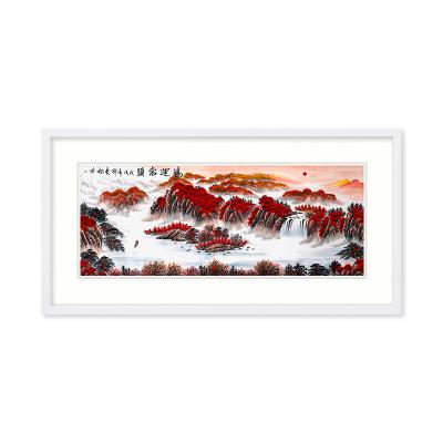 中国书画家协会会员 邵东松 国画《鸿运当头》