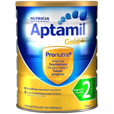 【亲源配方】Aptamil 海外澳洲爱他美金装 婴幼儿配方奶粉 2段 (6-12月)900g/罐 新西兰原装进口