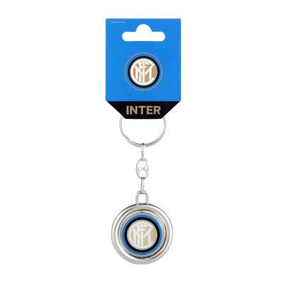 國際米蘭足球俱樂部Inter Milan簡約汽車掛件旋轉金屬鑰匙扣