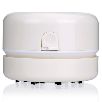 得力(deli)18880 白色 迷你桌面吸塵器 清潔器清理器 自動電動微型強力可愛橡皮擦橡皮屑除塵器18880 白色
