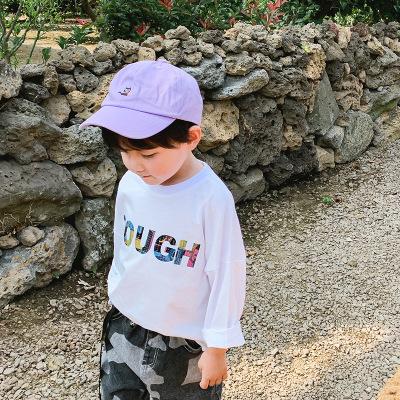 抹炫(MOXUAN)男童棒球帽儿童时尚潮韩版遮阳帽男孩防晒鸭舌帽宝宝秋季新款帽子