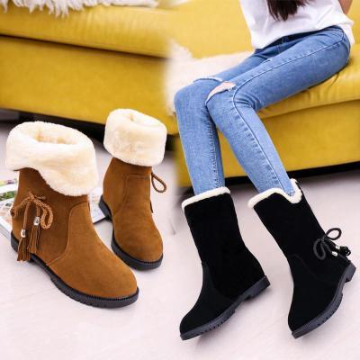 2018冬季新款韓版雪地靴女鞋短筒加絨保暖平底平跟學生靴子女棉鞋