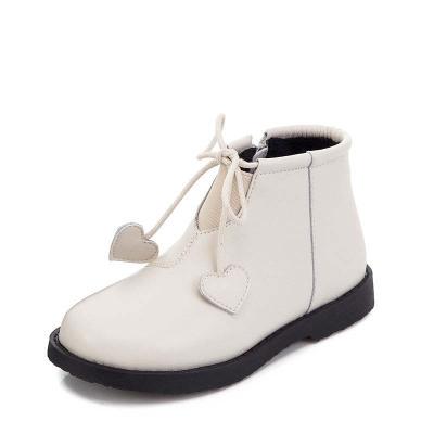 女童短靴子秋冬季新款小公主洋氣寶寶皮靴兒童鞋馬丁靴女劉家琦