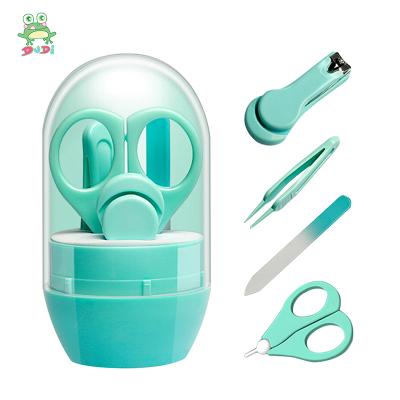 DuDi/青蛙嘟迪 母嬰幼兒童嬰兒指甲剪套裝剪刀初生兒寶寶剪指甲刀兒童小孩安全防夾肉指甲鉗 綠色