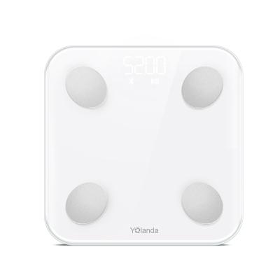 華為健康秤生態產品 云康寶(Yolanda)體脂秤稱 電子秤 人體 家用精準體重秤小型 白色