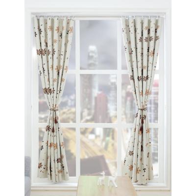 简易窗帘成品遮光窗帘免打孔安装出租屋宿舍小短卧室伸缩杆窗帘布