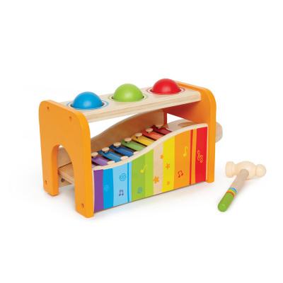 Hape早旋律敲琴台1-3岁早教益智玩具音乐玩具小木琴组合婴幼儿童玩具宝宝木制八音