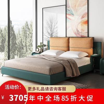 渝州 芝華士 品質北歐布藝實木床床雙人簡約現代小戶型床婚床主臥大床意式輕奢床