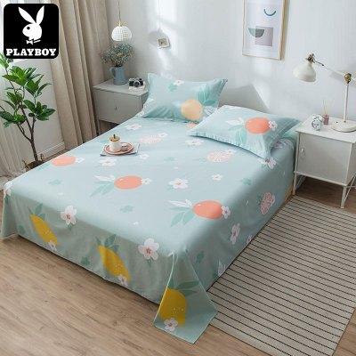 花花公子(PLAYBOY) 新款純棉床單單件 單雙人床 1.8米/2米全棉親膚舒適床上用品單品單件床單