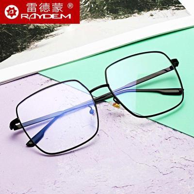 防藍光輻射電腦眼鏡女大框無度數護目平光鏡平面平鏡男潮近視護眼