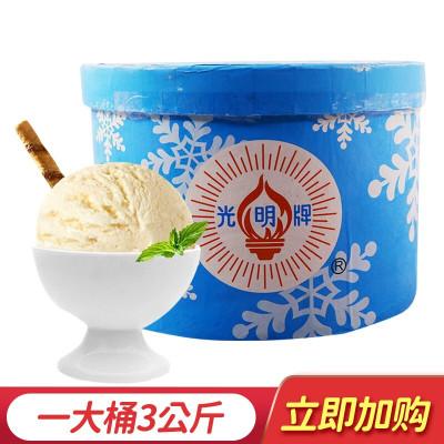 光明牌 大桶裝冰淇淋雪糕 商用酒店自助餐飲冰激凌 挖球雪糕3kg 香草味
