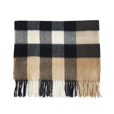 【正品二手99新】博柏利(BURBERRY)博柏利 经典 格纹 两端流苏纯羊毛款 围巾 全套含票