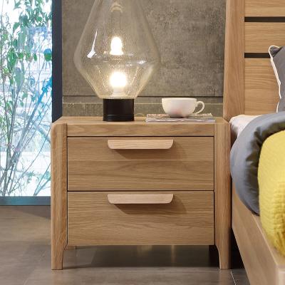 A家家具 床头柜 Y030 北欧宜家风格储物柜 卧室家具木质