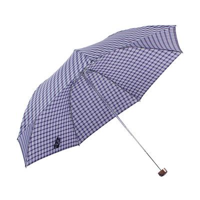 天堂 339S蘇格蘭風格格子三折晴雨傘男女商務傘57cm*7骨
