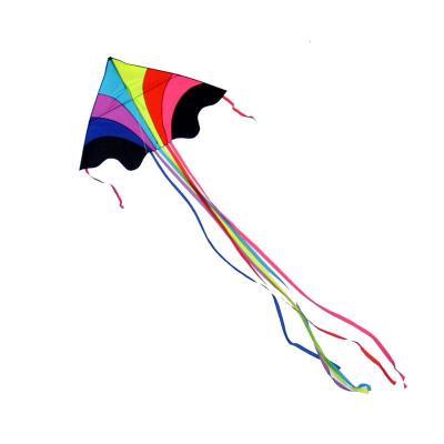 彩虹風箏 大型成人微風好飛三角風箏 長尾 多彩兒童