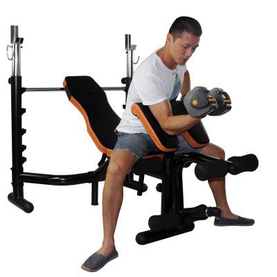 雷克LEIKE健身器材多功能举重床卧推器杠铃床深蹲架杠铃套装多功能杠铃