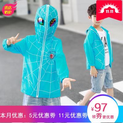 兒童防曬衣男童外套2019新款韓版夏裝薄款中大童衣服蜘蛛俠童裝潮