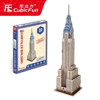 DIE-CAST樂立方3d立體模型迷你建筑智力開發男孩兒童拼圖玩具女3-6歲4 克萊斯勒大廈
