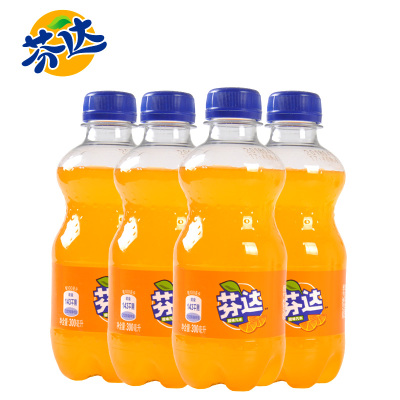 芬達橙味碳酸飲料汽水飲品PET300ml*12瓶可口可樂出品迷