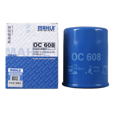 馬勒(MAHLE) 國產機油濾清器OC608飛度/鋒范/雅閣/思域/奧德賽/歌詩圖/思鉑睿/CRV/XRV 500
