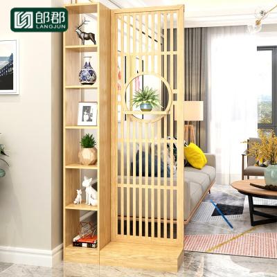 郎郡屏風隔斷置物架客廳簡約現代實木雙面酒柜入戶進廳玄關柜
