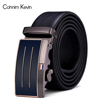 Cohnim Kevin科罗蒙凯文新款男士皮带自动扣 商务休闲腰带软皮裤带