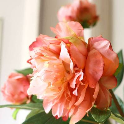 云錦逸品牡丹花 多頭仿真花假花美式中式客廳裝飾絹花