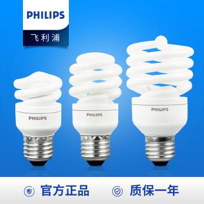 飛利浦照明(PHILIPS) 能燈泡 熒光燈管節能高亮燈泡 螺旋型E27大螺口 12W-E27大螺口 白光6500K