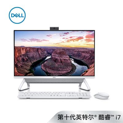戴尔(DELL)灵越7790 27英寸大屏幕高性能微边框超薄商务一体机台式电脑(十代i7-10510U 32G 1TB+512GB固态 2G独显 无线键鼠 白色)定制