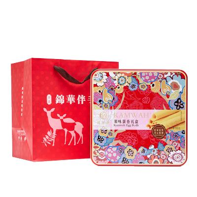 香港锦华礼 原味蛋卷500g/罐 品质年货礼品礼盒香浓原味鸡蛋卷糕点零食