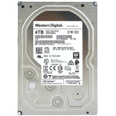 西部数据(Western Digital)4TB HC310 (企业数据存储|550TB负载/年|200万小时/MTBF|五年保)HUS726T4TALE6L4