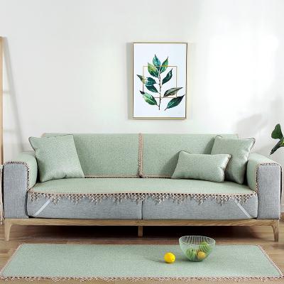 幸福派 夏季沙發墊涼席冰藤席防滑坐墊夏天款布藝防滑夏涼沙發墊客廳沙發套罩定制