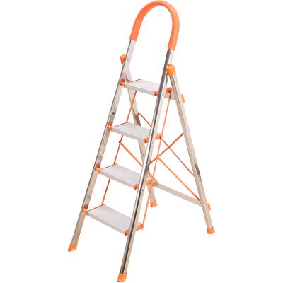 邦禾 家用梯子 鋁合金加厚折疊人字梯 四步梯步步高伸縮工程梯子 T01A四步梯(鋁合金)