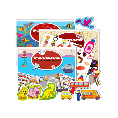 特宝儿(Topbright) 交通工具静电贴 3岁以上儿童男孩女孩卡通贴纸玩具 可反复撕贴静电贴 130725