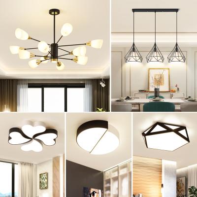 御家2020年新款客廳燈餐廳吊燈三室兩廳北歐風格簡約現代大氣家用臥室吸頂燈具套餐