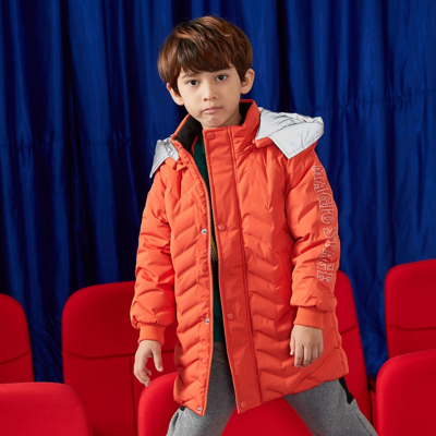 【1件2.7折:150.1】moomoo童裝男童中長款羽絨服新款冬裝洋氣潮中大兒童外套