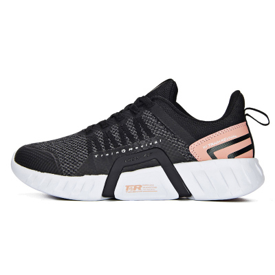 361° 女鞋運動鞋秋季厚底耐磨黑色減震網面潮流女子綜訓鞋