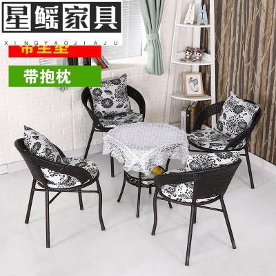 藤椅三件套阳台桌椅组合简约休闲露台室外户外庭院小茶几单人椅子