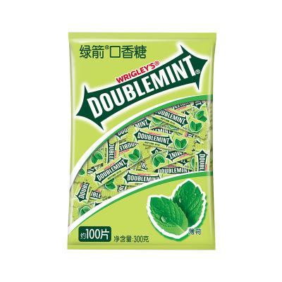 綠箭 口香糖100片 薄荷糖約會接吻清新口氣糖果零食大禮包