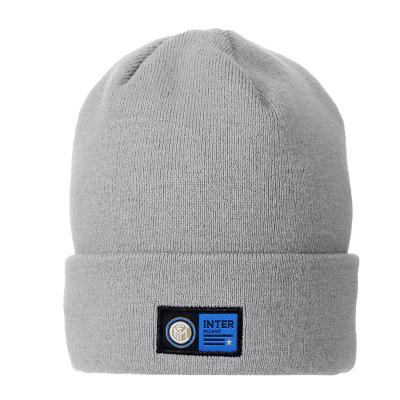 国际米兰俱乐部官方19冬季男子保暖户外运动跑步骑行针织帽灰色
