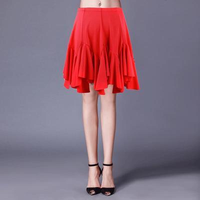 因樂思(YINLESI)拉丁舞服下半身裙 拉丁舞裙成人女 交誼舞服裝新款春 恰恰舞大擺半身裙練功服跳舞裙