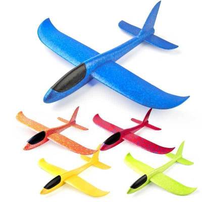 汇奇宝 特技回旋手抛航模滑翔机儿童户外亲子3-6岁其他手掷飞机泡沫飞机模型玩具3岁以上 35*33CM蜂鸟号【颜色随机】