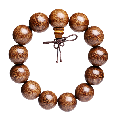 月印百川 老料金絲檀佛珠單圈手串 高密度檀香木珠手鏈