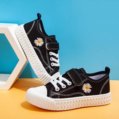 小雛菊兒童帆布鞋實心軟底男女寶寶中小學生夏季餅干底低幫學步鞋 TCVV