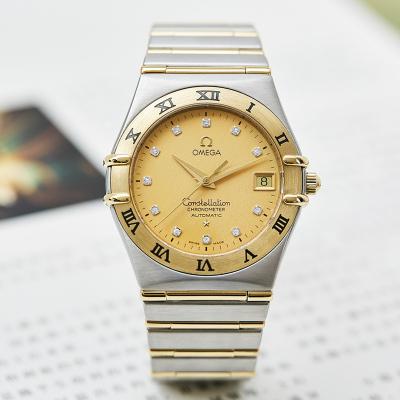 【二手95新】歐米茄 星座系列 奢侈品鉆刻18K黃金男腕表 自動機械男士名表手表 1202.15.00