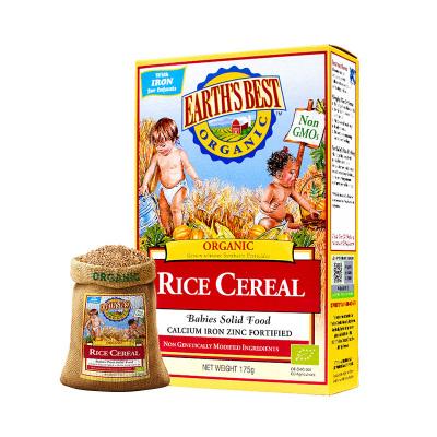 愛思貝(EARTH'S BEST) 寶寶米粉 地球世界米粉嬰兒輔食 高鐵有機大米粉175g(6個月以上適用)