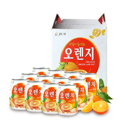 九日韓國進口果味飲品果肉粒橙子果汁送女友整箱飲料批發238ml*12