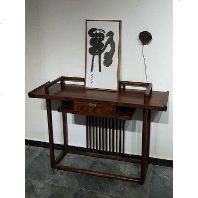 枳记家 老榆木家具新中式玄关桌仿古条案禅意供桌佛台条几实木玄关柜