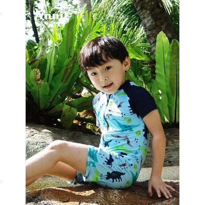 安奈儿童装男童女童大童泳衣夏季新款连体泳衣温泉EM827269